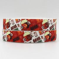beer prints - ribbon OEM inch mm beer design printed grosgrain ribbon yds roll headband