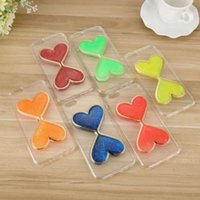 apple shaped clock - Dark Luminous Heart shaped Quicksand Clock Hourglass Timer Soft TPU Phone Case Clear Cover For iPhone s and for iPhone plus