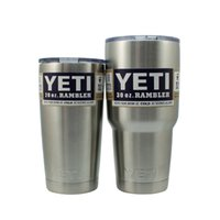 Wholesale Hot Yeti oz oz Cups Cooler YETI Rambler Tumbler Travel Vehicle Beer Mug Double Wall Bilayer Vacuum Insulated Stainless Steel