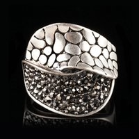 antique marcasite jewelry - Jenia Vintage Jewelry Antique Silver Plated Ring European Retro Marcasite Ring for Women XR320
