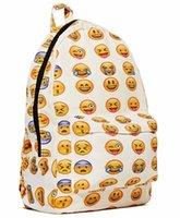 teenage fashion - Hot Selling A Women Fashion Backpack Printing Backpacks Canvas Emoji Backpacks for Teenage Girls Bag to School for Teenagers