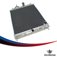auto parts racing - PQY RACING Row MM Aluminum car auto Radiator for Honda Civic Del Sol MT EG EK PQY SX103