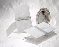 Wholesale New Elegant Wedding Invitations Cards Printable Wedding Cards Lace Bowknot Birthday Party Invitation Card Business Invitation Cards