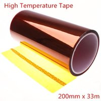 Wholesale 200mm x m ft Heat Resistant High Temperature Polyimide Adhesive Tape