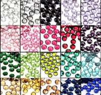 Wholesale All of the color Lt Siam Nail Art Rhinestones SS20 Mixed Non Hot Fix Glue on Glass Crystal Flatbacks beautiful Crystal material