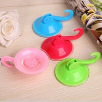 bathroom hanger - Hot sale new Vacuum sucker hook Kitchen Bathroom Plastic Hanger Suction Suckers vacuum chuck for household use