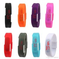 adjustable rubber straps - HOT Unisex watches LED Adjustable Silicone strap Watch sports Digital wristwatch Wristband