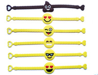 Wholesale 2016 Hot Sport Soft PVC Wristbands Kids Emoji Bracelet Creactive Popular Eco Friendly Adult And Kids Jewelry Gift Supplier Mix Styles