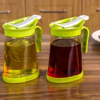 Wholesale ml Glass Spill proof Pot Anti hanging Oil Cruet Kitchen Handle Dust Seal Pot