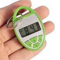 Wholesale Mini Portable Alarm Clock Electronic Desktop Digital Table Clocks Shakeproof Key Chain Hot Sale