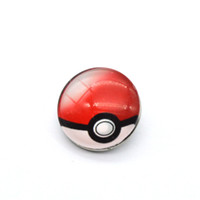 ball plastic ring - Poke Ball noosa jewelry Cherish ball glass snap button for noosa chunk Cabochon Charm Bracelets Bangles YD0180