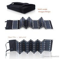 Wholesale 60W Port DC and USB Solar Chargers Portable and Foldable Fabric Solar Panel for power bank laptop mobile phone
