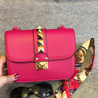 Women artwork boxes - With Box Designer Handbags High Quality Valentine Italian Genuine Leather Bag Rivet Chain Crossbody Bags Women Shoulder Bags Free Shipp