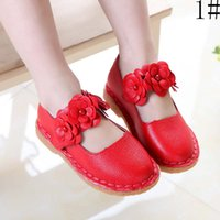 Wholesale Fashion Girl Shoes Children Dress Shoes Korean Spring Autumn Flower Casual Princess Shoes Kids Footwear Girls Dress Shoes Ciao C26669