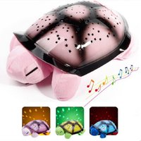 turtle - 32 cm Twilight Turtle Night Light Stars Lamp Baby Care turtle night light With Music Mini Projector Colors Songs Star Projector led