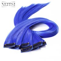 Wholesale Hot Promotion Neitsi Discount inch g Clip in Synthetic Ponytail Straight Long Synthetic Hair Clips Ponytails Extension