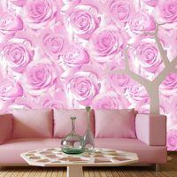 beauty entertainment - 3D Beautiful roses non woven wallpaper D pastoral upscale beauty salon boudoir backdrop wallpaper bedroom living room