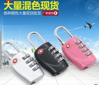 Wholesale Luggage Combination Lock Dial TSA Combination Padlock luggage trolley suitcase checked security clearance lock luggage padlock