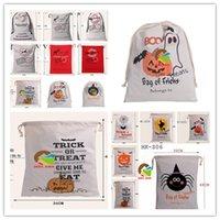 big deer - Christmas Santa Sacks Halloween Candy Bag hallowmas Gift bag big Drawstring Canvas Bags deer pumpkin senta christmas printing cotton bags