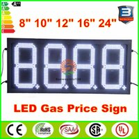 Wholesale Hot US Gas station led price sign inches white digits fuel price sign