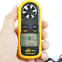 Wholesale GM816 Pocket Smart Anemometer Air Wind Speed Scale Temperature Meter LCD Digital Display Measure Velocity