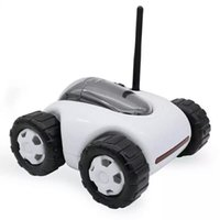 Wholesale 2016 NEW WiFi RC Spy Car Remote Robot Tank Camera Car Support Smart Phone Remote Control Wireless Charging built in G TF Card