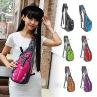 Wholesale Handbags Men Women Waterproof Sport Chest Pouch Bag Shoulder Sling Bag Nylon Running Outdoor Cross Body Bags