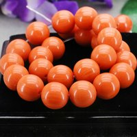 amber stone beads - 14mm Orange Imitation Beeswax Jewelry Amber Stone Loose Stripe Round Beads Yellow Opaque Resin Accessories DIY mm Lucky Beads