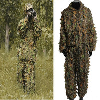 Wholesale Woodland Sniper Ghillie Suit Kit D Leaf Camouflage Camo Jungle Hunting Birding