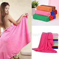 Wholesale 70x140cm High Quality Cleaning Towel Absorbent Microfiber Bath Beach Towel Drying Washcloth Swimwear Shower Portable Bath Travel Big Towels