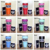 Wholesale Yeti cup Powder Coated oz Yeti Rambler YETI Coolers Rambler Tumbler Stainless Steel Double Walled Travel Mug YETI cup