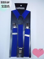acting black - Blue narrow straps children deserve to act the role of straps private suspender clip baby straps hanging trousers clips multicolor student p