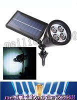 automatic parking - New arrvial Solar Power Bright LED White Warm White RGB Color automatic switch Outdoor Garden Path Park Lawn Lamp Landscape Spot Lights