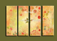 acrylic nature paintings - modern canvas wall art Abstract acrylic vintage nature view flower oil painting on canvas for living room decoration