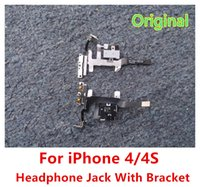 audio cable switch - For iPhone G S Headphone Audio Jack Mute Switch Volume Buttonn Key With Metal Bracket Connector Flex Cable Black White