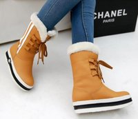 Wholesale Fashion new fund with waterproof winter in thick bottom sponge with warm soft skin tube female boots in the snow boots