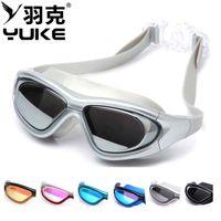 Wholesale Professional Water antifogging Sports Diving Glasses Vogue Water Diving Equipment Waterproof UV Swimming Racing Goggles Colors Choose