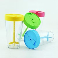 Wholesale Double insulated glass cup with creative breakfast cup of coffee cup manual stirring cup g