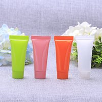 Wholesale 10ML Colorful Empty Cosmetic Packaging Plastic Soft Tube Eye Cream Gel Packaging Tube Containers