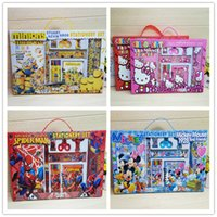 Wholesale Creative student school supplies stationery set cartoon children s birthday gifts School Supplies spider man Minions Mickey Mouse