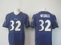 Wholesale 2016 Newest Men s BR Eric Weddle White black purple Football Jerseys Good Quality
