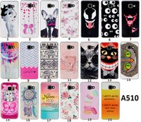 animal gel - Animal Cat Bear TPU IMD Shell Soft Gel Rubber Soft Back Phone Cover Case For Samsung Galaxy A3 A310 A5 A510 A7 A710 Cellphone Cases