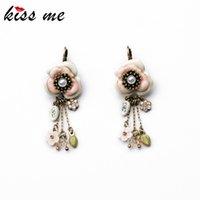 beaded drop earings - Shijie Statement Trendy Flowers Tassel Drop Chandelier Silver Feather Beaded Factory Ear Rings Earings Jewelry Earrings