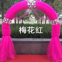 Wholesale Cheap wedding flower silk door arches marriage anniversary finished opening the snow yarn of happiness