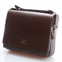 Wholesale Brand Designer Men Genuine Leather Handbag Black Brown Briefcase Laptop Shoulder Bag Messenger Bag size