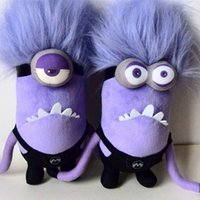 big hair images - 2016 Hot Despicable Me Minion Images Purple Single Double Eyes Hair Erecting Plush Toys