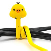 Wholesale 4 Animals Cute Cartoon Animal Cat Chicken Bear Wire Cable Cord Tie Wrap Organizer Winder