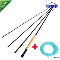 Wholesale SeaKnight Carbon Fly Rods FT Fly Fishing Materials Saltwater Sections m Very Light WF6F Fly Line