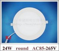 Wholesale round LED panel light lamp LED ceiling panel lamp SMD2835 led lm W led W lm AC85 V