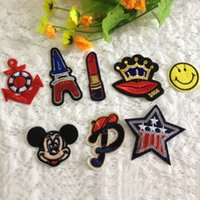 art patch - 8pcs Fashion Paris Mickey Star Sequins Patches Kids Art Embroidery Sew On Patch For Clothing Accessories Appliques Motif Badge
